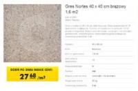 Gres Nortes 40 x 40 cm brązowy 1,6 m2