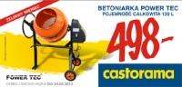 Polecany produkt: Betoniarka Power Tec - 120/80 l.